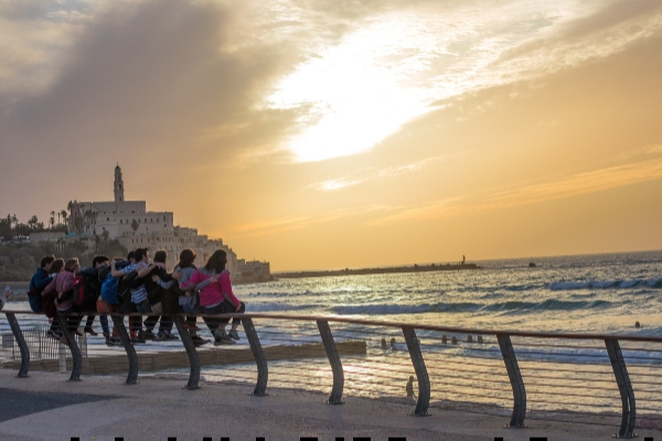 Tel aviv seaside sunset