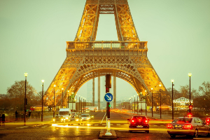 The Eiffel Tower & Street