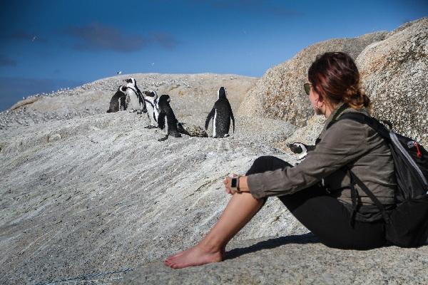 penguins-female backpacker